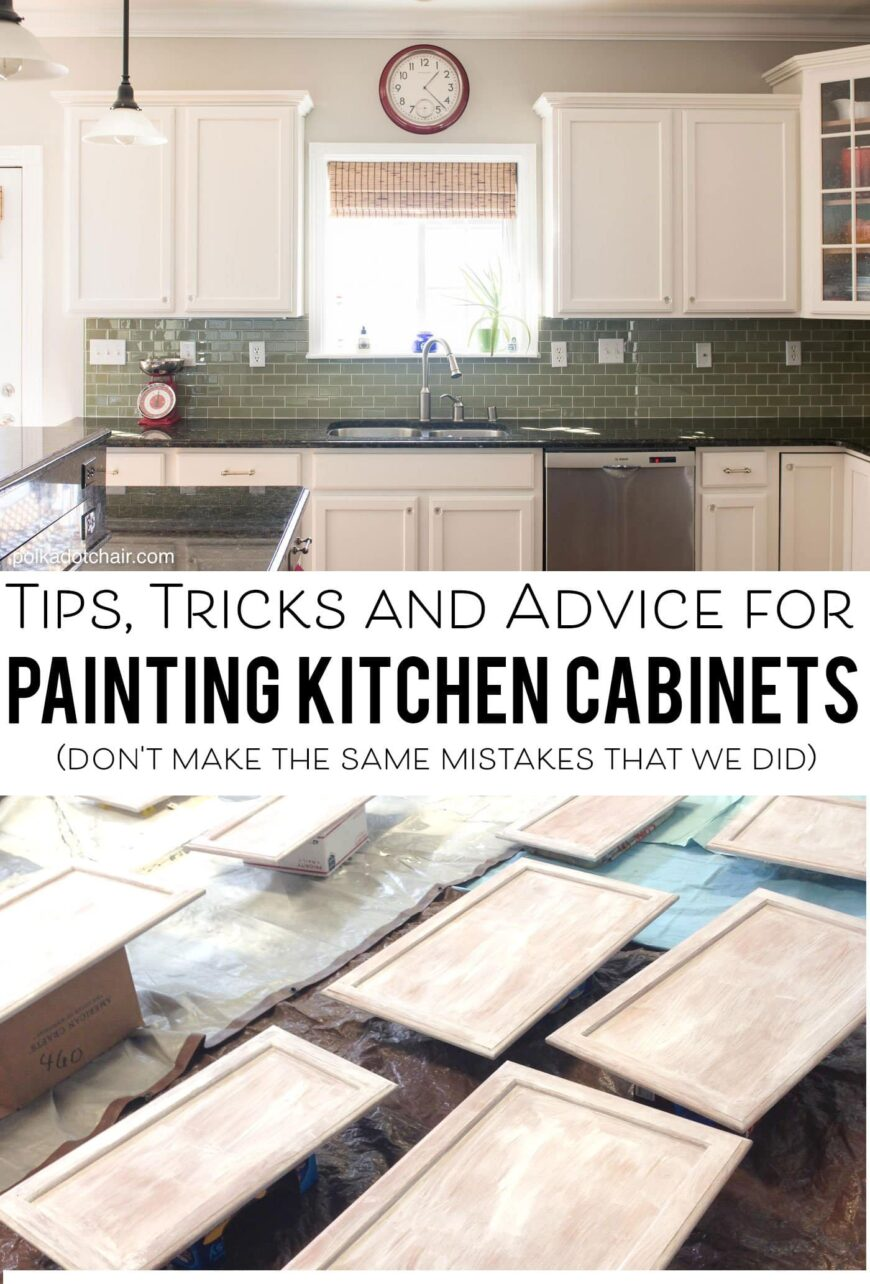 kitchen cabinet tips for painting